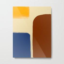 Mid century Modern Desert Palette Metal Print