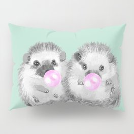 Playful Twins Hedgehog Pillow Sham