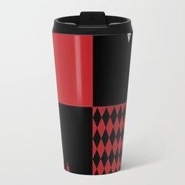 Harley Quinn Diamond Pattern Travel Mug