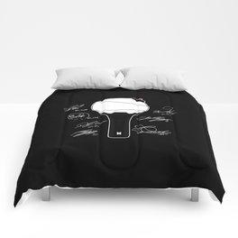 bts light stick white Comforters
