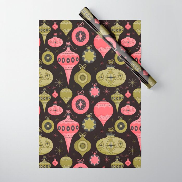 Vintage Ornament Collection Wrapping Paper