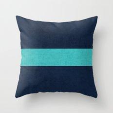 classic - navy and aqua Throw Pillow