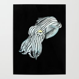 Pajama Squid Poster
