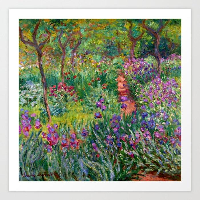 "Claude Monet ""The Iris Garden at Giverny"", 1899-1900 Kunstdrucke"