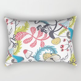 Mushrooms and other natural things Rectangular Pillow