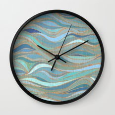 Wave lines 1 Wall Clock
