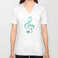 amy hamilton V-neck T-shirts featuring Amy  by Angela Pesic