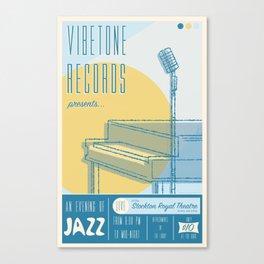 Vibetone Jazz Canvas Print