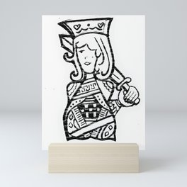 Riendo's Royal Millennials King of Hearts Mini Art Print