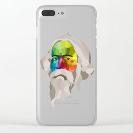 Rabindranath Tagore - popart portrait Clear iPhone Case