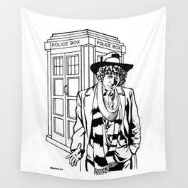 The Fourth Doctor Who / The Protagonist / Lord from the planet Gallifrey by Peter Melonas Wall Tapestry