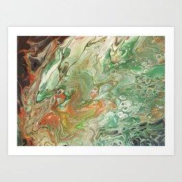 Copper on Green Art Print