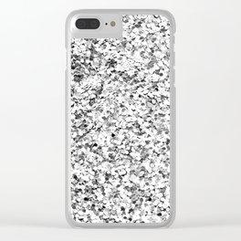 silver glitter Clear iPhone Case