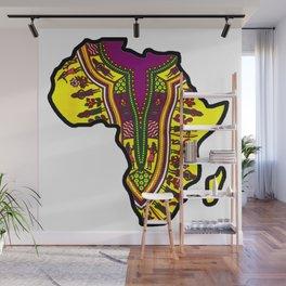 Purple Dashiki Africa Map Wall Mural