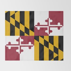 State flag of Flag Maryland Throw Blanket