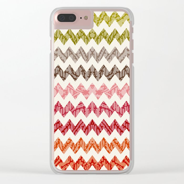 TRIBAL CHEVRON PATTERN Clear iPhone Case
