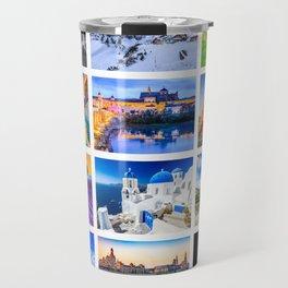 World travel collage Travel Mug