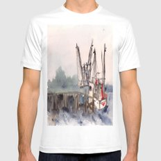 Mayport 3 of 3 White MEDIUM Mens Fitted Tee