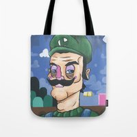 luigi Tote Bags featuring Luigi by Cody Fisher