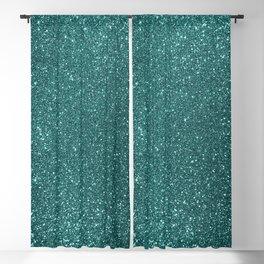 Aqua Teal Turquoise Glitter Blackout Curtain
