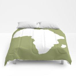 Safari Green Audacious Africa Comforters