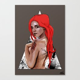 Kraken Girl Canvas Print
