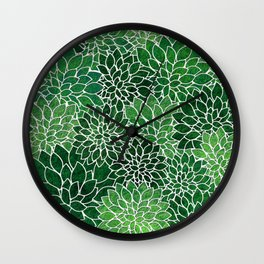 Floral Abstract 23 Wall Clock