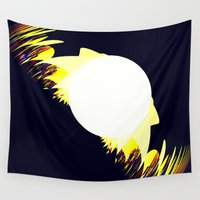 falcon Wall Tapestries featuring falcon by donphil