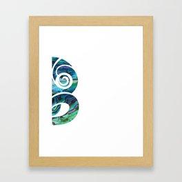 Tiki White Framed Art Print