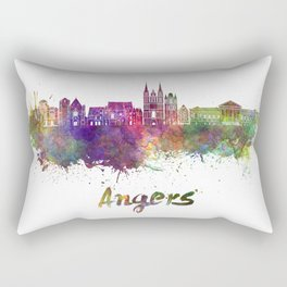 Angers skyline in watercolor Rectangular Pillow