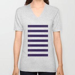dark purple stripes Unisex V-Neck