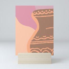 Pastel vase Mini Art Print