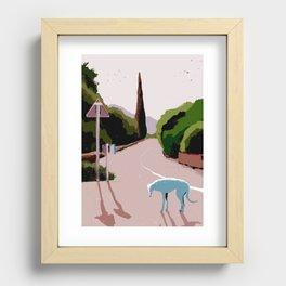 Greyhound Recessed Framed Print