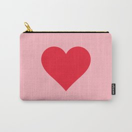 Red Heart on Pink Carry-All Pouch