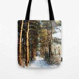 Forest Snow Scene Tote Bag