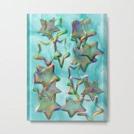 Marbled Stars Metal Print