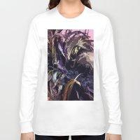 headdress Long Sleeve T-shirts featuring Feather Headdress  by TheBigBear