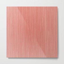 Abstract modern coral geometrical stripes Metal Print
