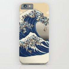 The Great Wave of Pugs Vanilla Sky iPhone 6 Slim Case