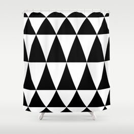 Triangle waves and swirls Shower Curtain
