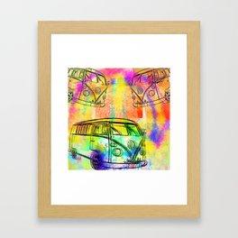 Hippie Campers Framed Art Print