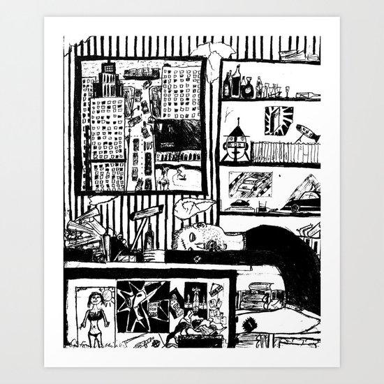 bring me a drunk dream. Art Print