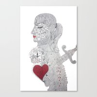 selfie Canvas Prints featuring Selfie by Ina Spasova puzzle