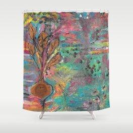 Autumn Moon Beet Shower Curtain