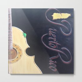 "Oil painting of the Famous ""El Cuatro Guitar""  Metal Print"