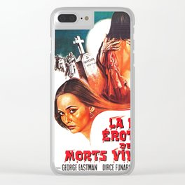 Vintage Movie Poster Clear iPhone Case