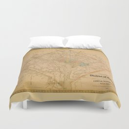 Civil War Washington D.C. Map Duvet Cover
