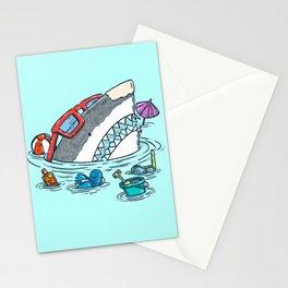 Beach Party Shark Stationery Cards