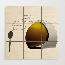 Spoon. Spacehead. Wood Wall Art