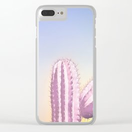 My Pink Cactus Clear iPhone Case
